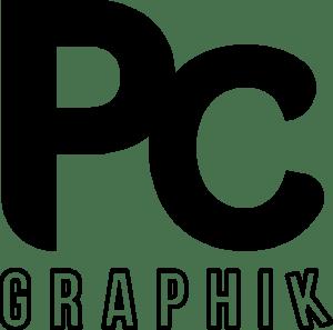 Logo noir et blanc de Pc-Graphik, Agence de communication à Colmar