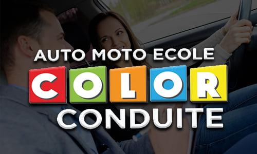 Logo coloré de COLOR CONDUITE, auto-école