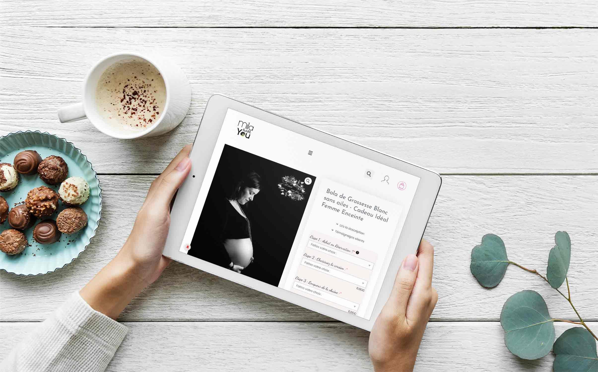 Consultation du site Milawithyou sur une tablette