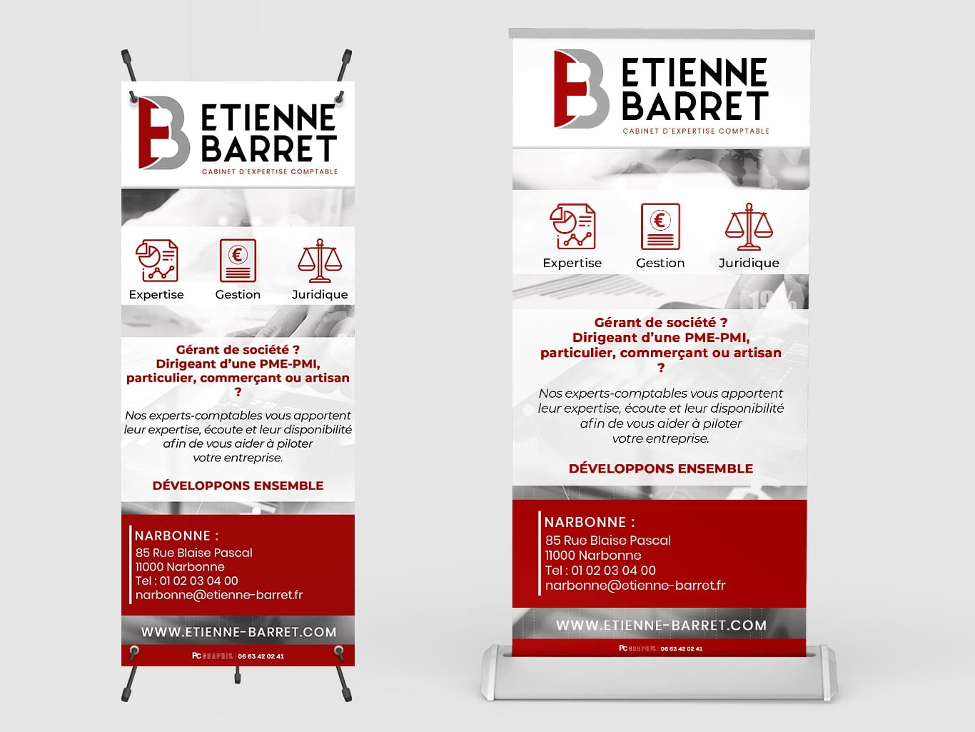 Roll up et X-Banner d'un cabinet d'expertise comptable