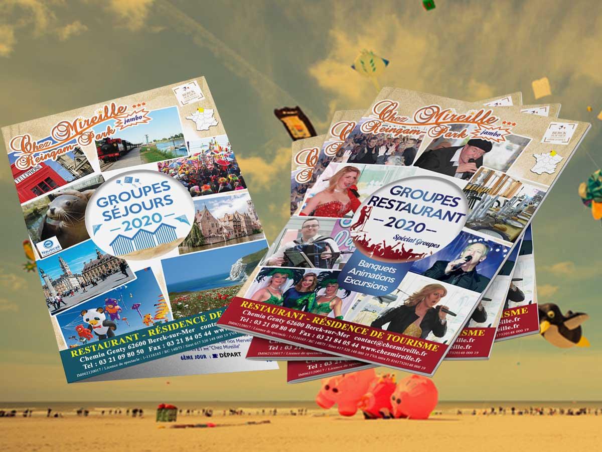 Brochures imprimées Chez Mireille à Berck/Mer