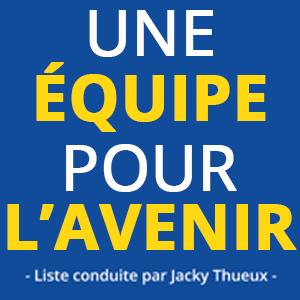 Logo de campagne Une équipe pour l'avenir élections municipales de Rue 80120