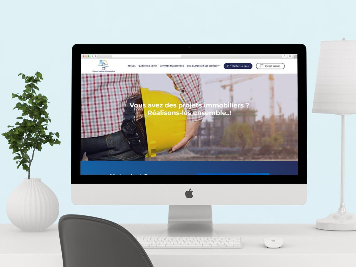 Présentation sur un mockup du site internet de C2I hauts de France
