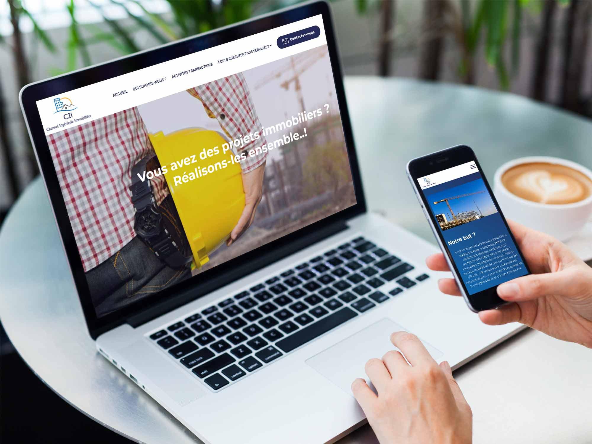 réalisation du site internet de l'entreprise C2I Hauts de France, basé au Touquet